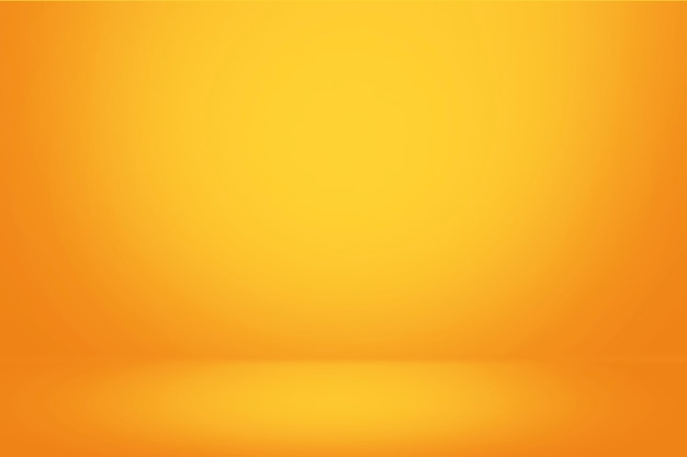 Yellow gradient wall and empty studio room background Premium Photo