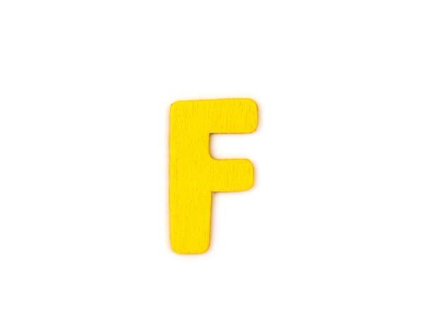 Yellow letter f Photo   Free Download