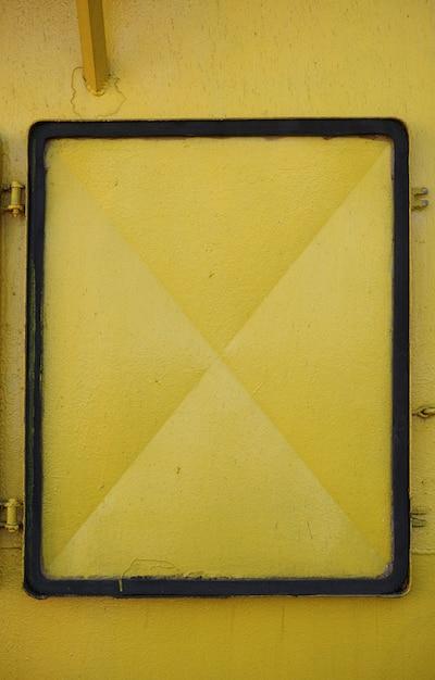 Yellow metal door Free Photo