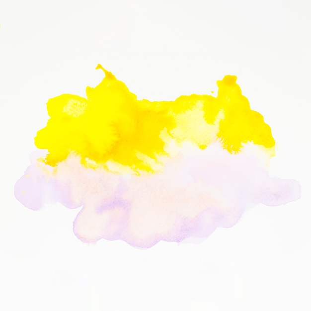 Yellow and pink watercolor splash on white backdrop Free Photo