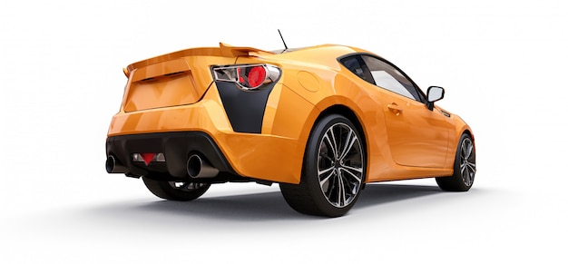 Yellow small sports car coupe Premium Photo