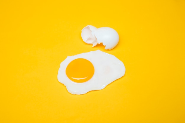 Yellow still life of egg Free Photo