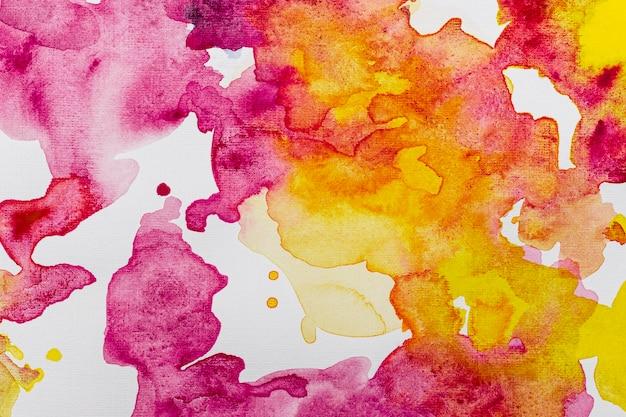 Fondo del modello dello spazio della copia dell'acquerello rosa giallo e vivido Foto Gratuite