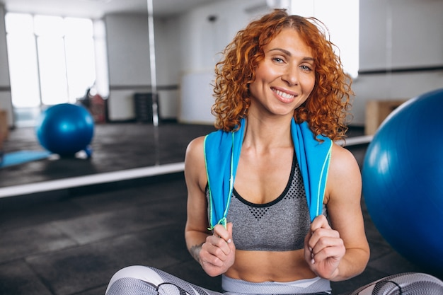 Yoga fitness trainer at the gym Free Photo