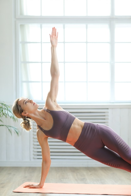 Yoga at home Free Photo