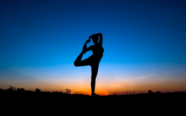 YOGA In Nature Premium Photo