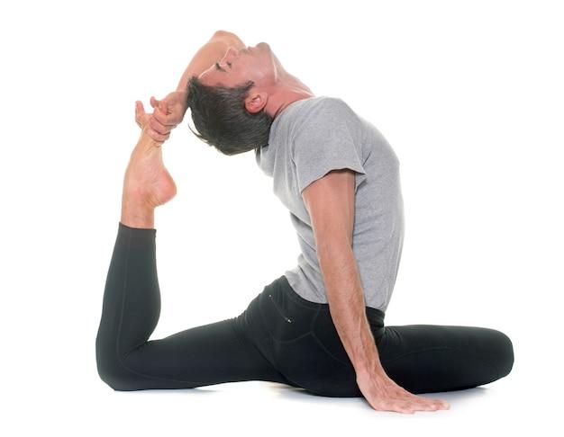 Yoga man isolated Premium Photo