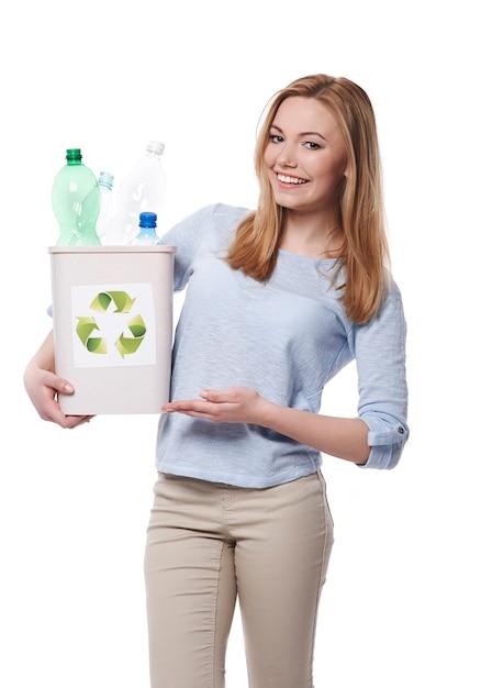 친환경적이고 쓰레기 분류를 시작할 수 있습니다 무료 사진
