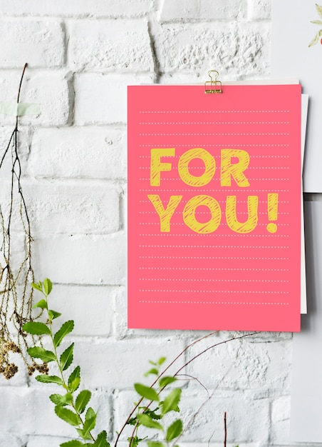 For you poster on white wall Premium Photo
