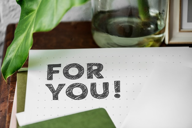 For you written on a paper Premium Photo