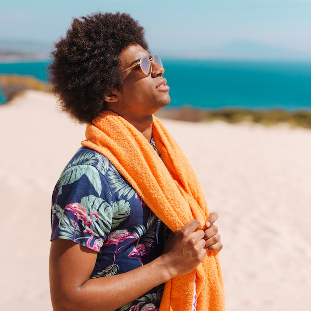 Young african american man enjoying rest Free Photo
