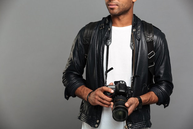 Young african male photographer Free Photo