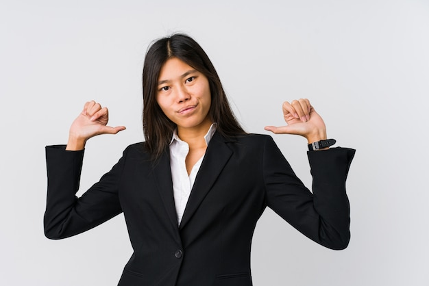 young asian business woman feels proud self confident example follow 1187 47861