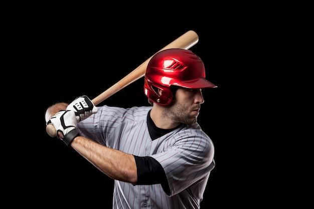 Young baseball player isolated Premium Photo