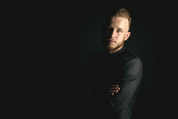 Young bearded fashion man Premium Photo