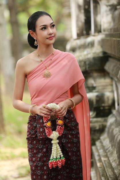 Beautiful of asian women traditional