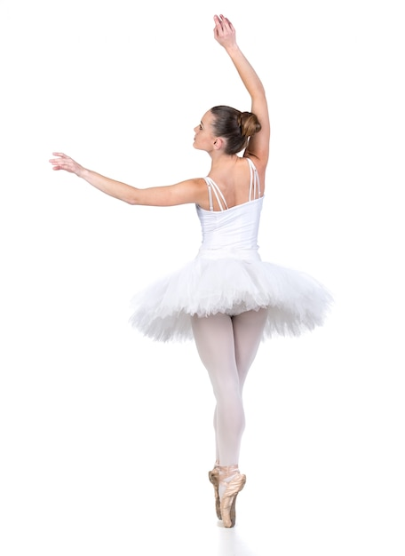Young beautiful ballet dancer Premium Photo