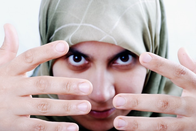 Beautiful muslim women face pictures that