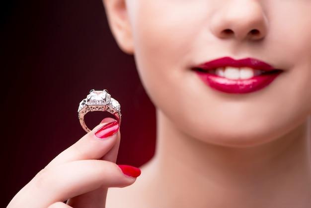 Young beautiful woman in beauty fashion concept Premium Photo