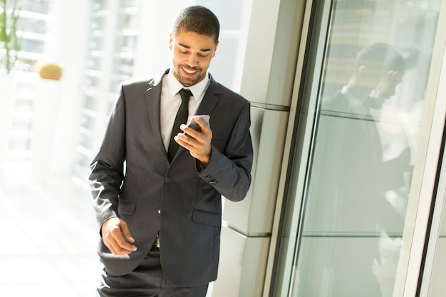 Young black man in the office Premium Photo