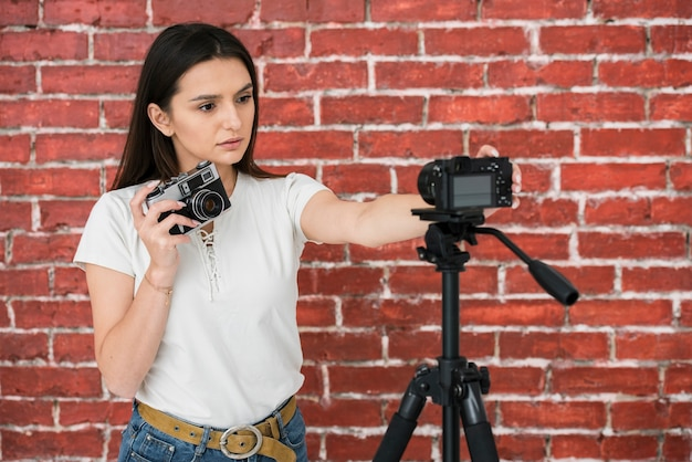 Young blogger ready to broadcast Free Photo