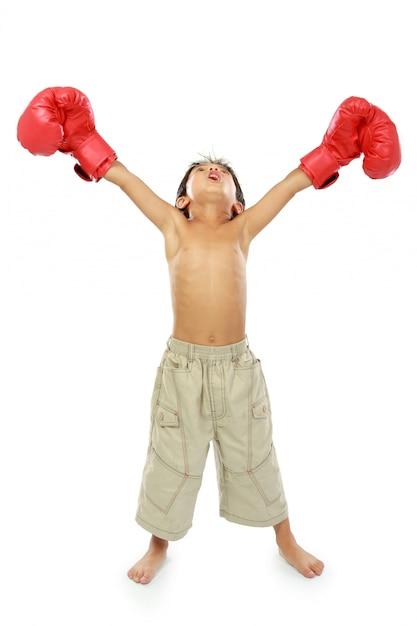 Young boxer Premium Photo
