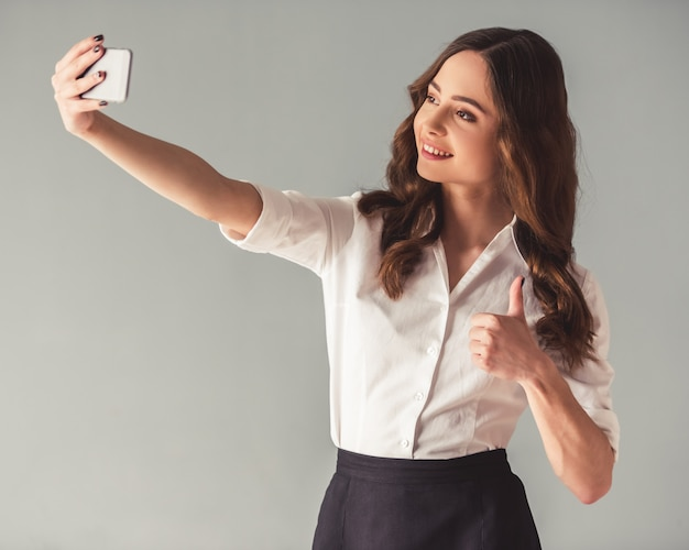 Young business woman Premium Photo
