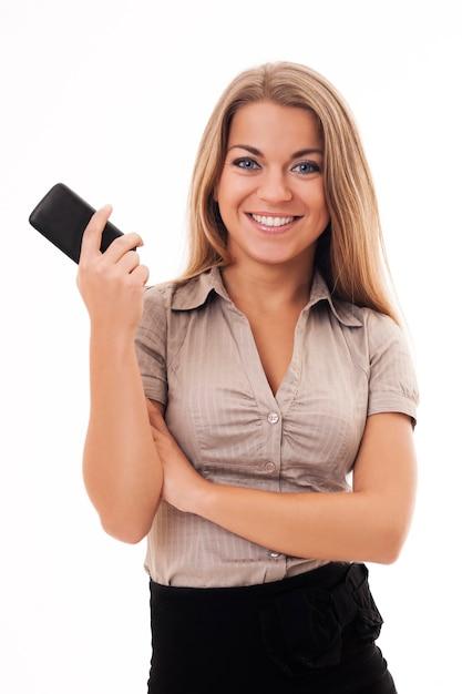 전화를 기다리는 젊은 사업가 무료 사진