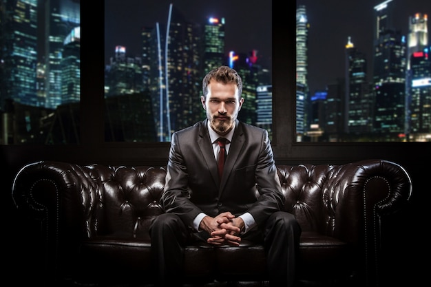 Young confident businessman Premium Photo