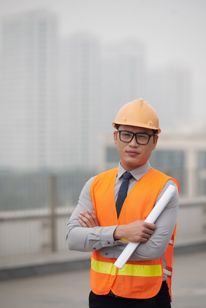 Young construction engineer Free Photo