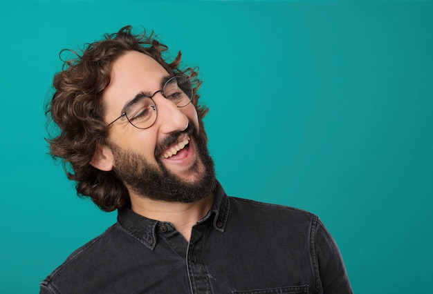 Young cool bearded man posing Premium Photo