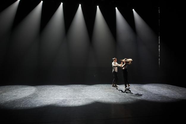 Young couple dances caribbean salsa Premium Photo