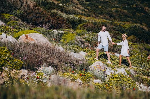 Young couple on honeymoon in greece Free Photo