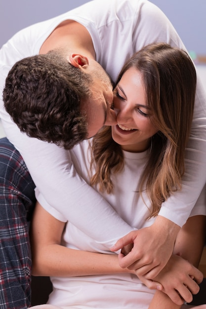 Young couple in love hugging Free Photo