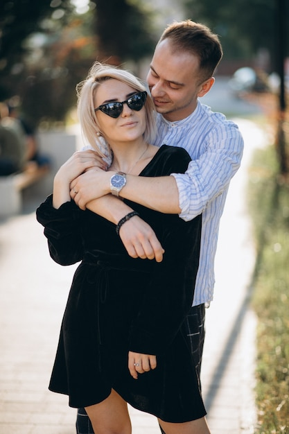 Young couple together in town Free Photo