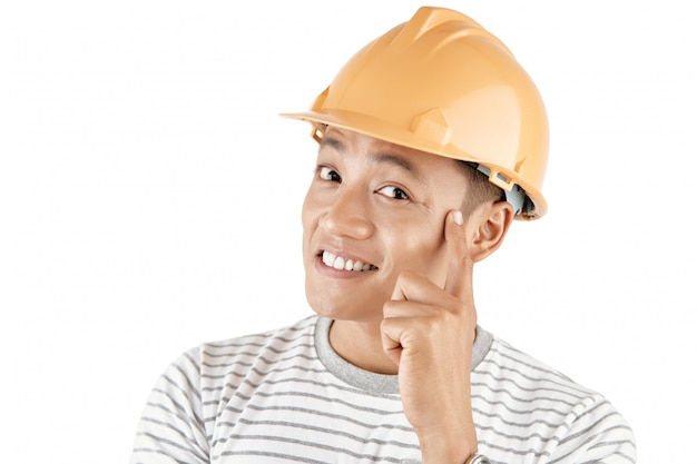 Young creative construction worker Free Photo