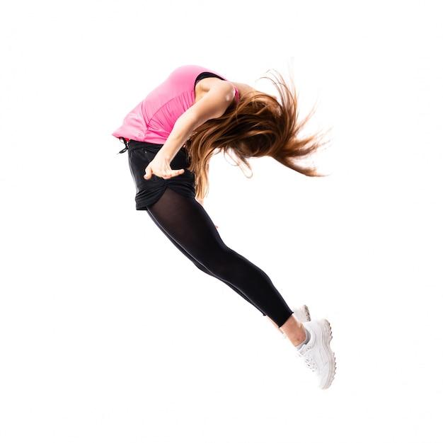 Young dance girl jumping Premium Photo