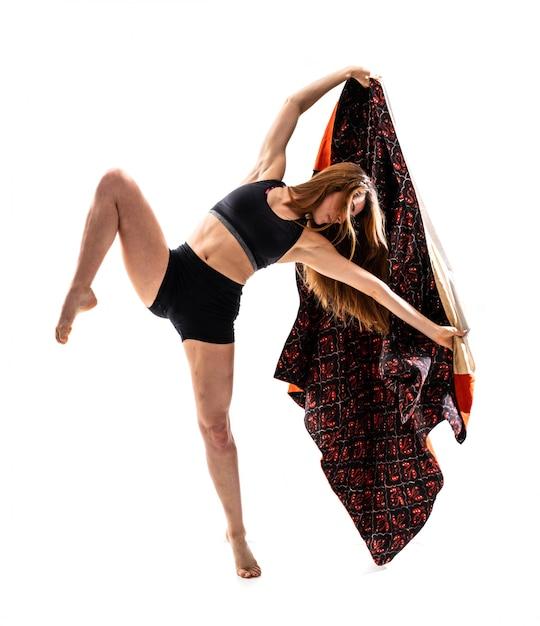 Young dance girl with kimono Premium Photo