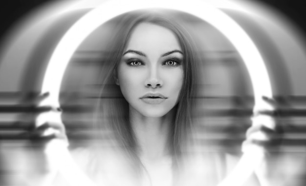 Young extraterrestrial woman's portret Free Photo