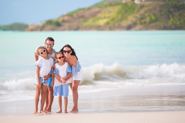 Young family on vacation have a lot of fun together Premium Photo