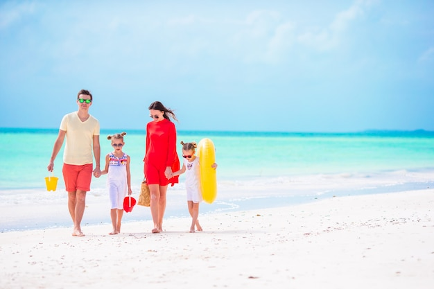 Young family on vacation Premium Photo