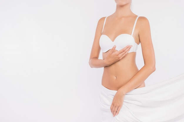 Young female with covered hips Free Photo