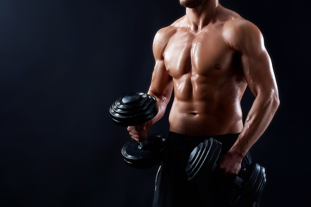 Young fitness man in studio Free Photo