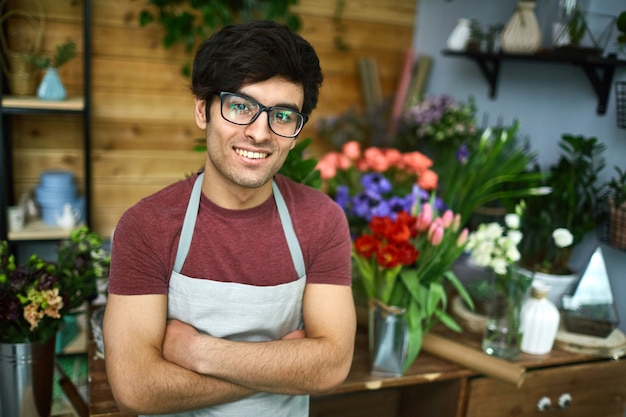 Young florist Free Photo