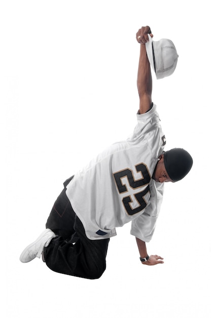 Young hip-hop dancer on white Free Photo