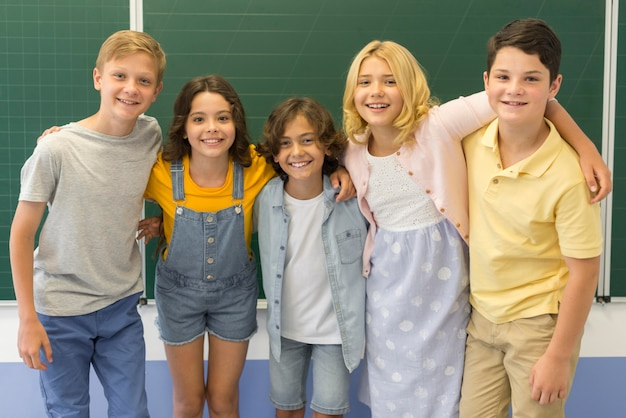 Young kids at school Free Photo