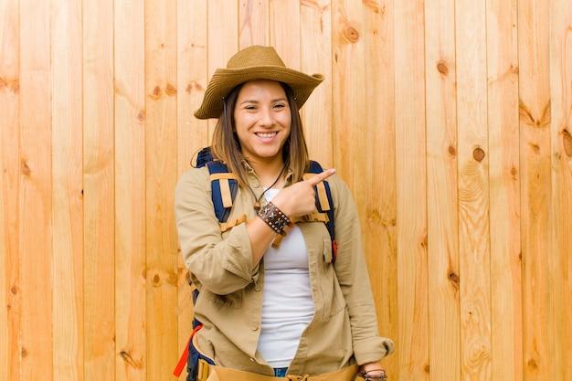 Young latin explorer woman Premium Photo