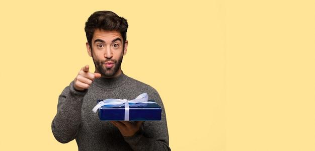Young man celebrating valentines day Premium Photo