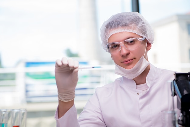 Young man in medical concept Premium Photo