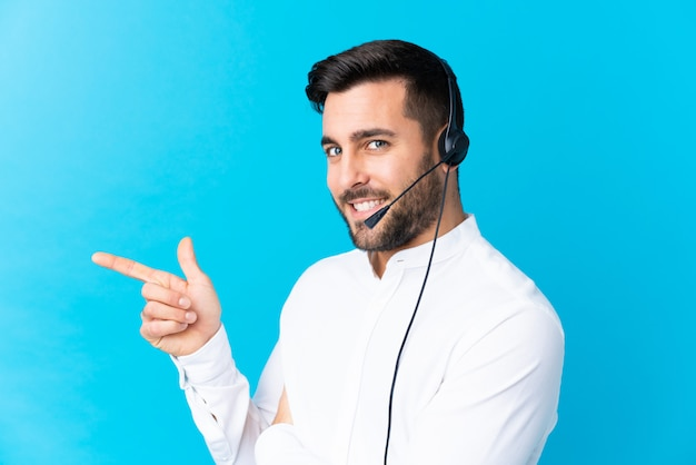 Young man operator with headset Premium Photo